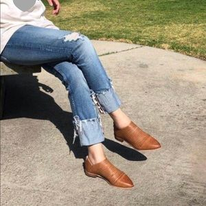 Whiskey Colored Flats